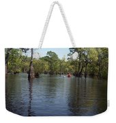 At The End Of The Canoe Weekender Tote Bag