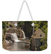 At The Falls In Ausable Ny Weekender Tote Bag