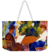 At The Garden Table Weekender Tote Bag by August Macke