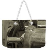 At The Helm Black And White Sepia Weekender Tote Bag