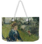 At The Meadow. Vetheuil Weekender Tote Bag