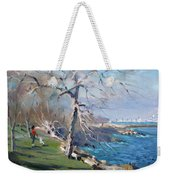 At The Park By Lake Ontario Weekender Tote Bag