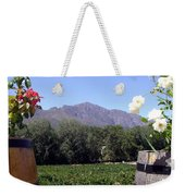 At The Rickety Bridge Winery Weekender Tote Bag by Barbie Corbett-Newmin
