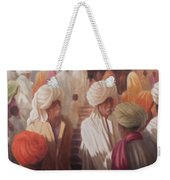At The Temple Entrance, 2012 Acrylic On Canvas Weekender Tote Bag