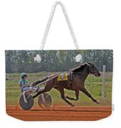 At The Three Quarter Mile Post Weekender Tote Bag