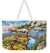 At The Top Of The Mountain Weekender Tote Bag