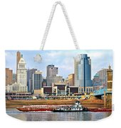 At Work On The Ohio River Weekender Tote Bag