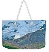 Athabasca Glacier Along Icefields Parkway In Alberta Weekender Tote Bag