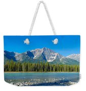 Athabasca River With Mountains Weekender Tote Bag