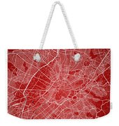Athens Street Map - Athens Greece Road Map Art On Color Weekender Tote Bag