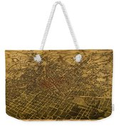 Atlanta Georgia City Schematic Street Map 1892 On Recovered Worn Parchment Paper Weekender Tote Bag