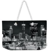 Atlanta Panoramic Black And White Weekender Tote Bag