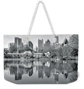 Atlanta Reflecting In Black And White Weekender Tote Bag