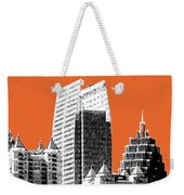 Atlanta Skyline 2 - Coral Weekender Tote Bag