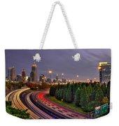 Atlanta Sundown Night Lights Art Weekender Tote Bag