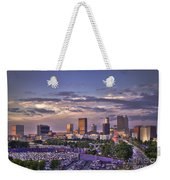 Atlanta Sunset Fulton County Stadium Braves Game  Weekender Tote Bag