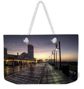 Atlantic City Boardwalk In The Morning Weekender Tote Bag