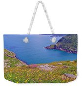 Atlantic Ocean From Signal Hill National Historic Site In Saint John's-nl Weekender Tote Bag