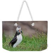 Atlantic Puffin With Sandeels Weekender Tote Bag