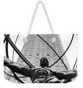 Atlas In Rockefeller Center Weekender Tote Bag