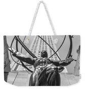 Atlas Statue Rockefeller Center Weekender Tote Bag