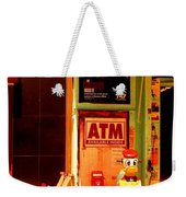 A T M And Sled Weekender Tote Bag