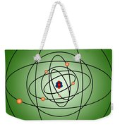 Atomic Structure Model Weekender Tote Bag by Science Source