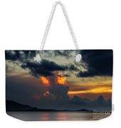 Atomic Sunset Weekender Tote Bag