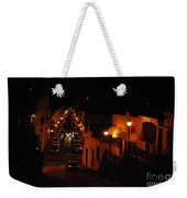 Atop Calle Hostos At Night Horizontal Weekender Tote Bag