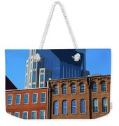 At&t Building And Historic Red Brick Weekender Tote Bag