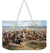 Attack Of The Horse Regiment Weekender Tote Bag by Victor Mazurovsky