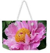 Attractive Pink Peony Weekender Tote Bag
