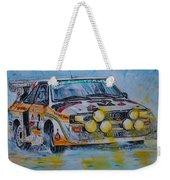 Audi Quattro On The Rocks Weekender Tote Bag