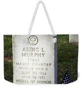 Audie Murphy - Most Decorated Weekender Tote Bag