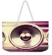Audio Banner Weekender Tote Bag