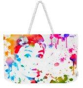 Audrey Hepburn Paint Splatter Weekender Tote Bag