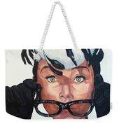 Audrey Hepburn Weekender Tote Bag by Tom Roderick