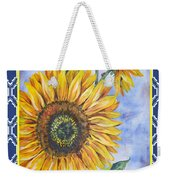 Audrey's Sunflower With Boarder Weekender Tote Bag