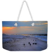 August Beach Morning With The Sea Gulls Weekender Tote Bag
