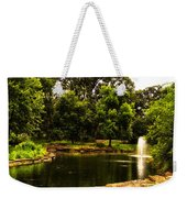 August By The Fountain Weekender Tote Bag