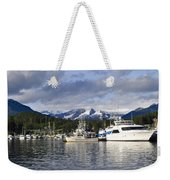 Auke Bay Harbor Weekender Tote Bag