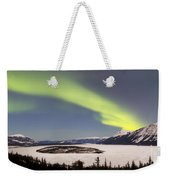 Aurora Borealis Over Bove Island Weekender Tote Bag