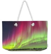 Aurora Panorama Over Northern Studies Weekender Tote Bag