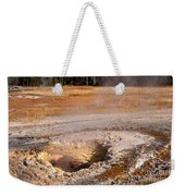 Aurum Geyser In Upper Geyser Basin In Yellowstone National Park Weekender Tote Bag