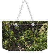 Ausable Chasm Bridge Weekender Tote Bag