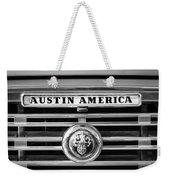 Austin America Grille Emblem -0304bw Weekender Tote Bag
