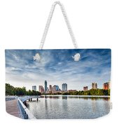 Austin Boardwalk View On Lake Weekender Tote Bag