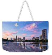 Austin Skyline At Sunset Weekender Tote Bag