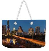 Austin, Texas Cityscape Evening Skyline Weekender Tote Bag