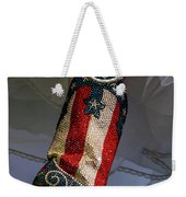 Austin Texas - Red White Blue Sequin Weekender Tote Bag